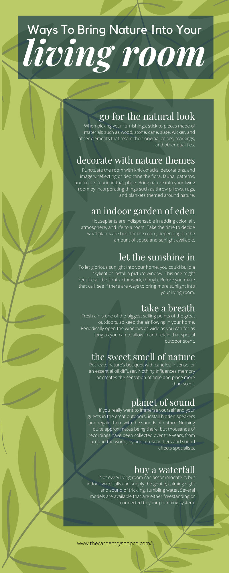 Ways To Bring Nature Into Your Living Room