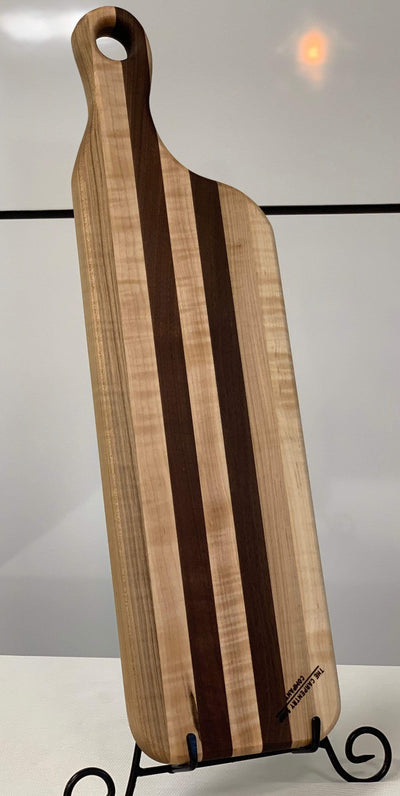 "The Carpenty Shop Co., LLC 22"" Black Walnut and Curly Maple Cutting Board"