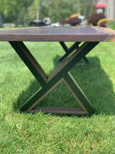 The Carpenty Shop Co., LLC Black Walnut Coffee Table with Unique Triangle Legs