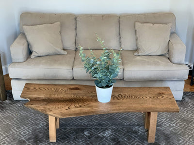 The Carpenty Shop Co., LLC Oak Coffee Table with Walnut Finish