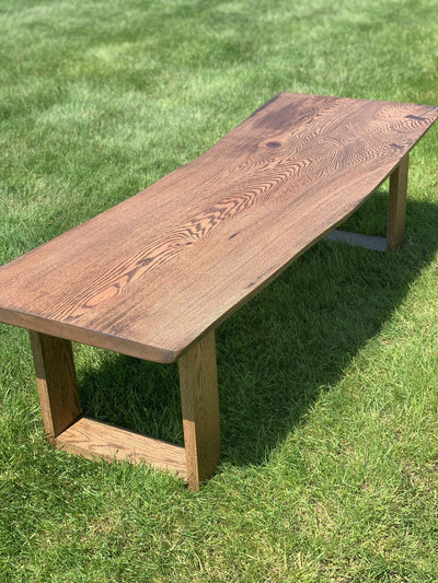 The Carpenty Shop Co., LLC Red Oak Coffee Table with Butterfly