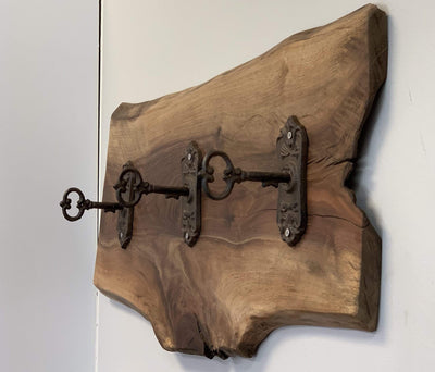 The Carpenty Shop Co., LLC Wall Decor Walnut 3 Key Hook Wall Piece
