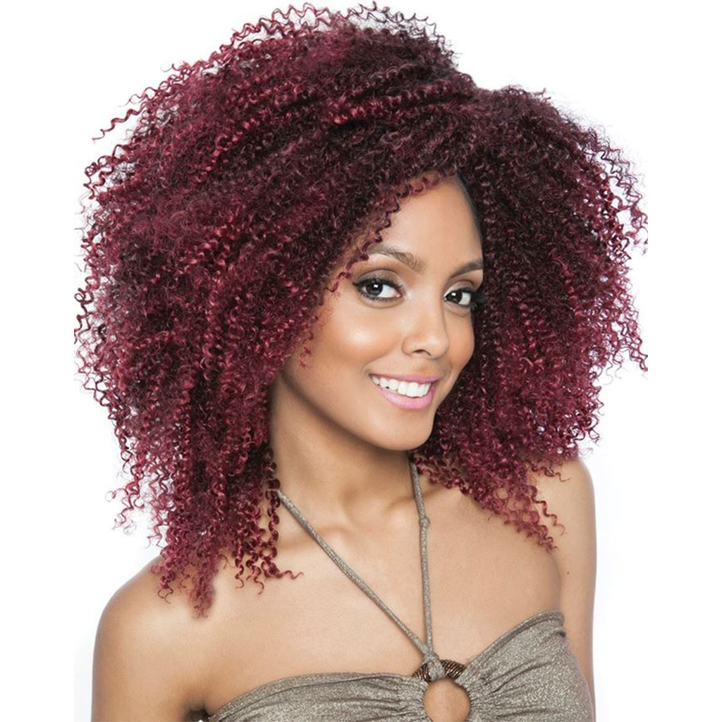 "Afri-Naptural Crochet Hair #1 Afri Naptural Caribbean 2X 3C Natural Corkscrew 10"" <br> 2 IN 1 Bonus Pack"
