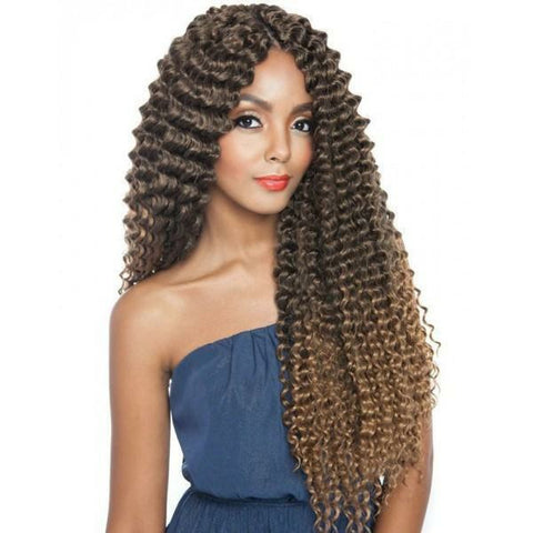 Afri-Naptural Crochet Hair #1 Afri-Naptural: Caribbean Bundle Super Spanish Wave 22""