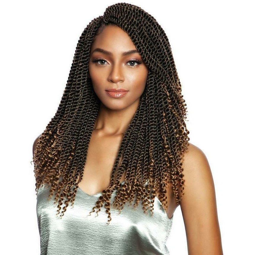 Afri-Naptural Crochet Hair #1 - Jet Black Afri-Naptural 3X COILY ENDS BOX BRAID 14""