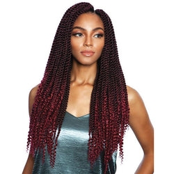 Afri-Naptural Crochet Hair #1 - Jet Black Afri-Naptural 3X COILY ENDS BOX BRAID 18""
