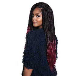 Afri-Naptural Crochet Hair #1 - Jet Black Afri-Naptural 3X KRITZ BOX BRAID 24""
