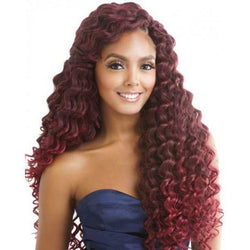 Afri-Naptural Crochet Hair #1 - Jet Black Afri-Naptural: Caribbean Bundle Super Aruba Soft Deep 22""
