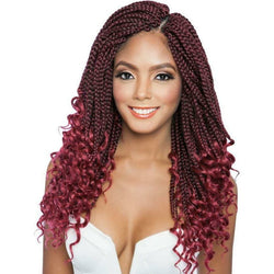 Afri-Naptural Crochet Hair #1 - Jet Black Afri-Naptural: Curly Ends Box Braid 14""
