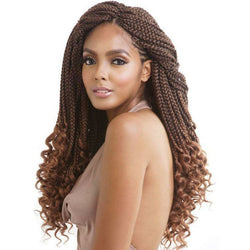 Afri-Naptural Crochet Hair #1 - Jet Black Afri-Naptural: Curly Ends Box Braid 18""