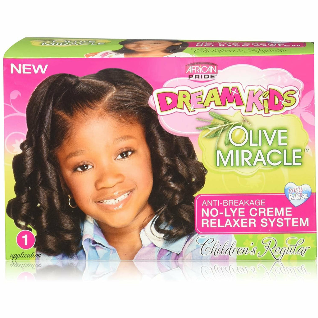 African Pride Relaxer Regular AFRICAN PRIDE: Dream Kids Kids Olive Miracle Anti-Breakage No-Lye Relaxer Regular, Coarse