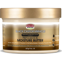 African Pride Styling Product AFRICAN PRIDE: Black Castor Miracle- Prep & Leave-In Moisture Butter 8oz