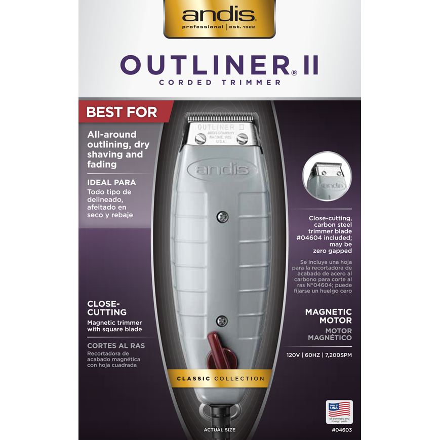 Andis Hair Trimmers ANDIS: Outliner® II Square Blade Trimmer