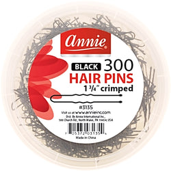 "Annie Hair Accessories ANNIE: 300 Ball Tipped Hair Pins Crimped 1 3/4""  #3135"