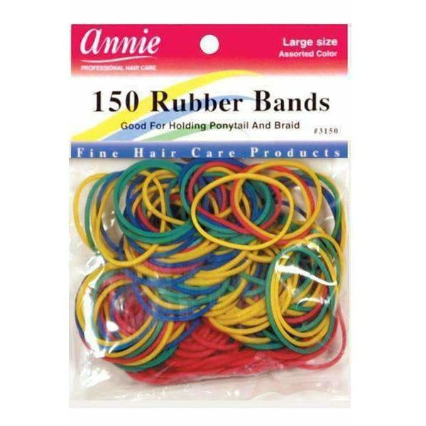"Annie Salon Tools Annie: 150 Large 1"" Assorted Color Rubber Bands #3150"