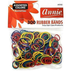 Annie Salon Tools Annie: 300 Assorted Color Rubber Bands #3153