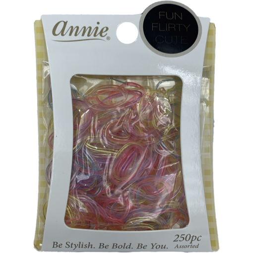 Annie Salon Tools Annie: Clear Color Elastic Band #8554