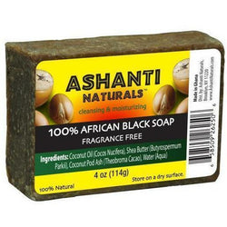 Ashanti Naturals Bath & Body Ashanti 100% African Black Soap Bar 4oz