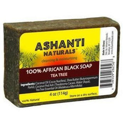 Ashanti Naturals Bath & Body Ashanti 100% African Black Soap Bar - Tea Tree 4oz
