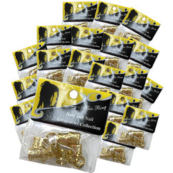 Beauty Depot Inc. Styling Product Gold 18-Individual Packs of Hair and Nail Accessories Collection: Hair Ring