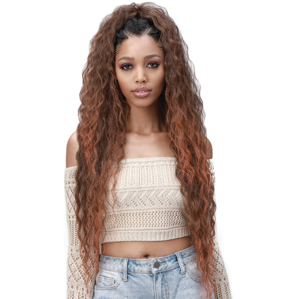 "Bobbi Boss Braiding Hair 1 Bobbi Boss: KING TIPS WET & WAVY 28"" 3X"