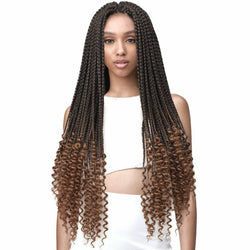 Bobbi Boss Crochet Hair Bobbi Boss: Bomba Box Braid Curly Tips 28""