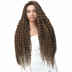 Bobbi Boss Crochet Hair Bobbi Boss: Box Braid Loose Curly Tips 28""