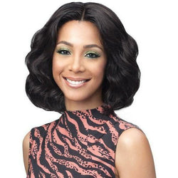 Bobbi Boss lace wigs Bobbi Boss: Human Hair 13x4 Lace Front Wig - Ocean Wave 12""