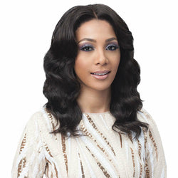Bobbi Boss lace wigs Bobbi Boss: Human Hair 13x4 Lace Front Wig - Ocean Wave 16""