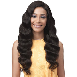Bobbi Boss lace wigs Bobbi Boss: Human Hair 13x4 Lace Front Wig - Ocean Wave 28""