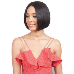 "bobbi boss lace wigs Bobbi Boss: Human Hair 5"" Deep Part Lace Wig - Ema-S"