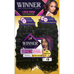 "Bobbi Boss Weaving Hair 10"" / #1 - Jet Black Bobbi Boss: WINNER Soft Wavy MP"