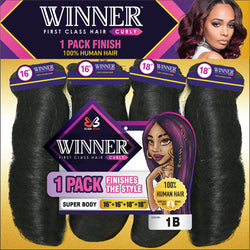 "Bobbi Boss Weaving Hair 10"" / #1 - Jet Black Bobbi Boss: WINNER Super Body MP"