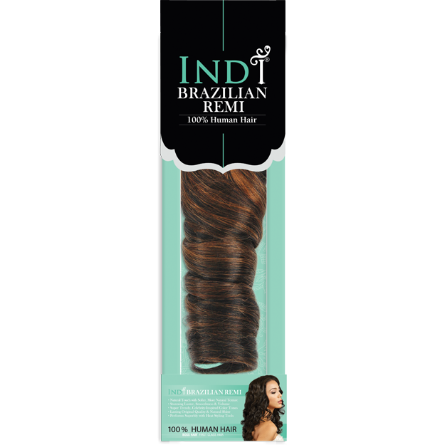 "Bobbi Boss Weaving Hair 12"" / #1 - Jet Black BOBBI BOSS® INDI® Brazilian Super Curl <br> 100% Human Hair"