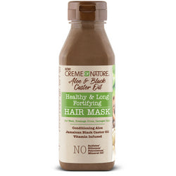 Creme of Nature Hair Care CREME OF NATURE: Aloe & Black Castor Oil Healthy & Long Fortifying Hair Mask 12oz