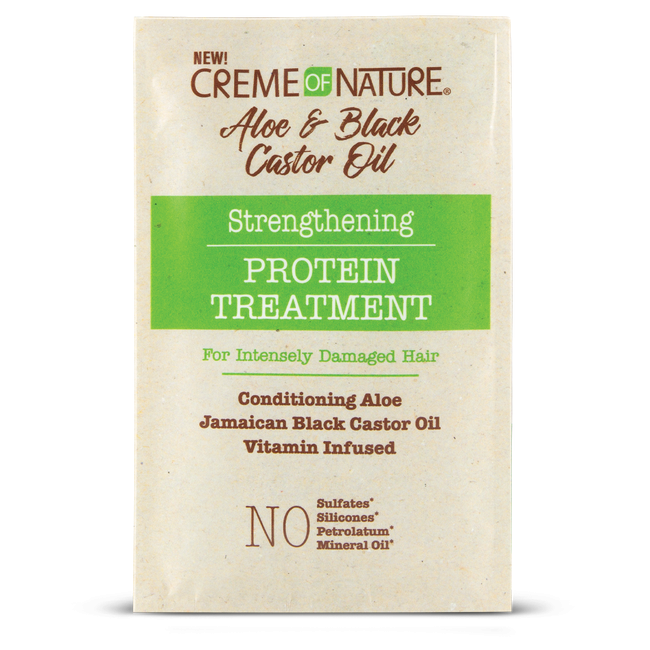 Creme of Nature Hair Care CREME OF NATURE: Aloe & Black Castor Oil Strengthening Protein Treatment 1.6oz