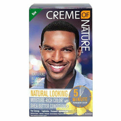 Creme of Nature Hair Color Natural Black CREME OF NATURE: 5-minute Permanent Dye for Men