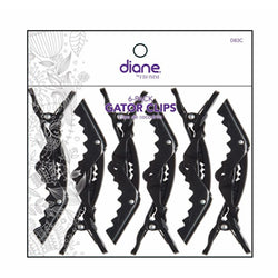 Diane Salon Tools Diane: D83C 4 1/2 Gator Clips 6pc