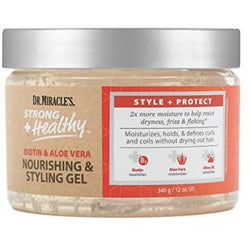 Dr. Miracle's Gels Dr. Miracle's: Strong + Healthy Biotin & Aloe Vera Nourishing & Styling Gel 12oz