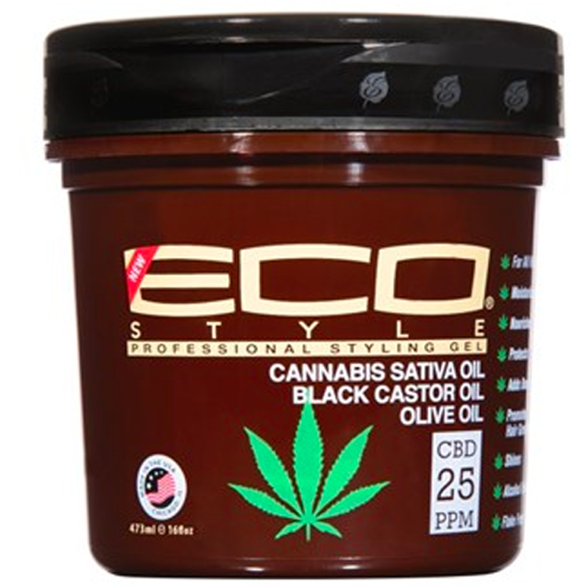 Eco Style Hair Care 8oz Eco Style: Cannabis Sativa Oil Styling Gel