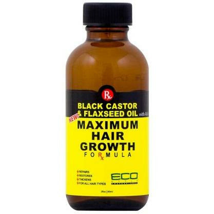 Eco Style Hair Oils Eco Style: Black Castor & Flaxseed Hair Growth Formula 2oz