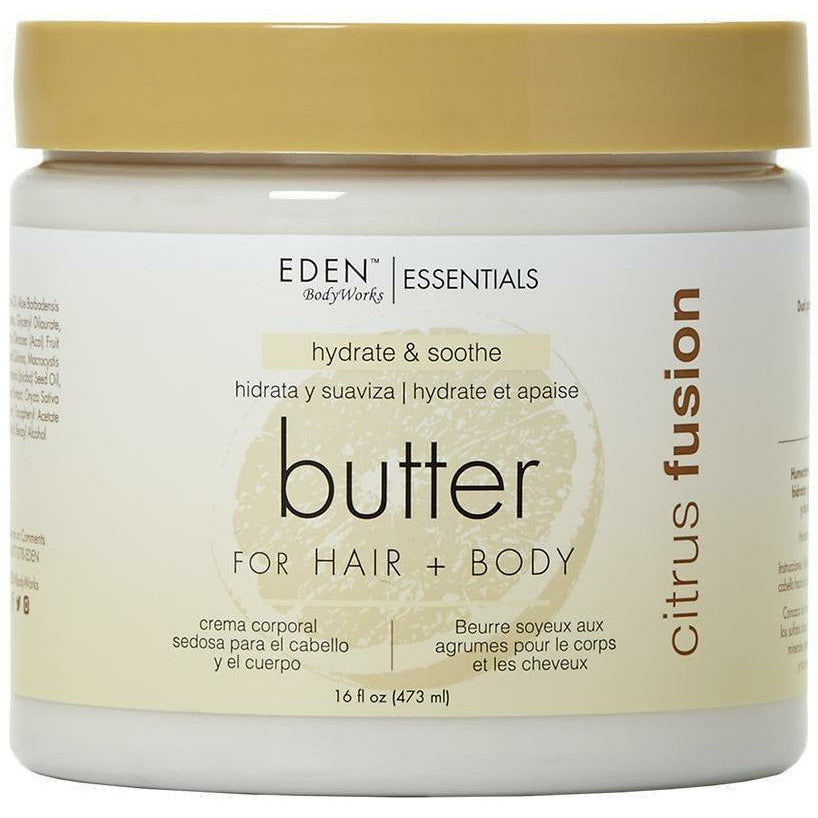 Eden Bodyworks Bath & Body Eden Bodyworks: CITRUS FUSION HAIR + BODY BUTTER 16oz