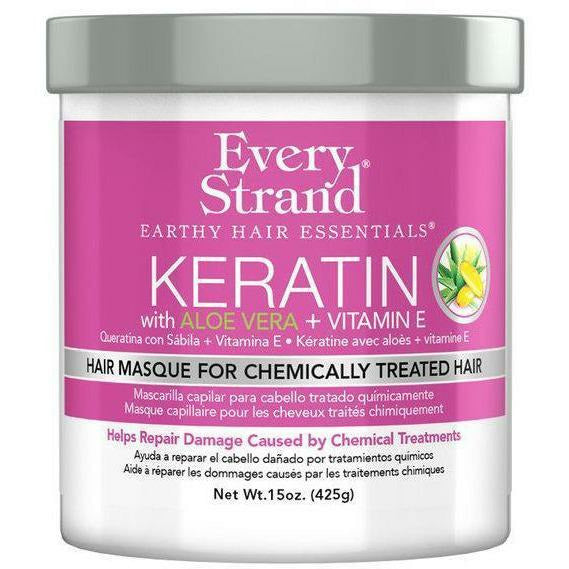 Every Strand Hair Care Every Strand: Keratin with Aloe Vera + Vitamin E Hair Masque for Chemically Treated Hair 15oz
