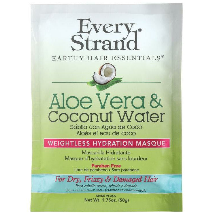 Every Strand Treatments, Masks, & Deep Conditioners Every Strand: Aloe Vera & Coconut Water Weightless Hydration Masque 1.75oz