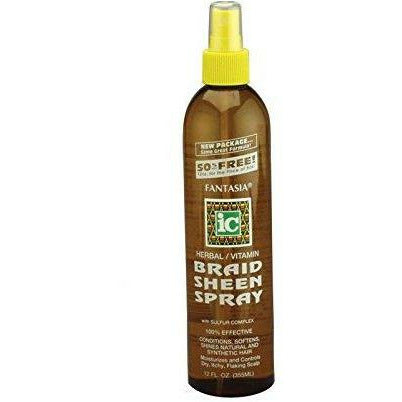 Fantasia Hair Care FANTASIA: IC Herbal/ Vitamin Braid Sheen Spray 12oz