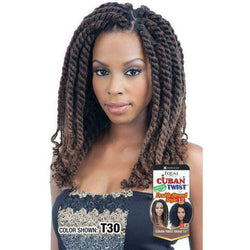 "FreeTress Crochet Hair FreeTress: Cuban Twist 12"" Crochet Braids"