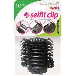 Janet Collection Accessories Black JANET COLLECTION™: SELFIT CLIP - 10 PCS<BR><I><SMALL>PERFECT FOR HAIR EXTENSIONS</SMALL></i>