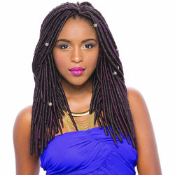 Janet Collection Crochet Hair #1 - Jet Black JANET COLLECTION™: 2X Havana Mambo Faux Locs 14""