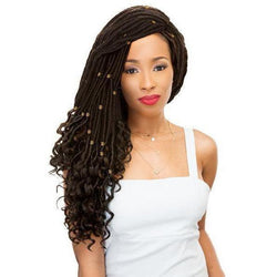 Janet Collection Crochet Hair #1 - Jet Black JANET COLLECTION 2X MAMBO GODDESS LOCS STRAIGHT 20""