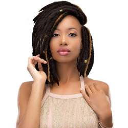 Janet Collection Crochet Hair #1 - Jet Black JANET COLLECTION 2X Mambo Rockin' Locs 12""